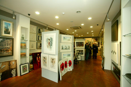 interior of hetros shop just before the exhibition