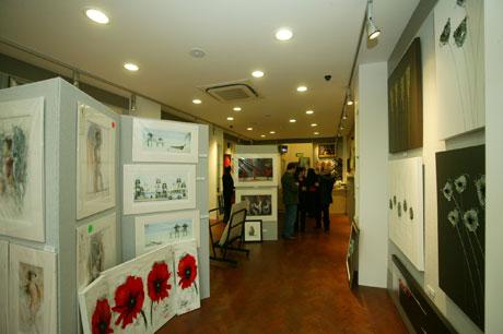interior of hetros shop before the exhibition