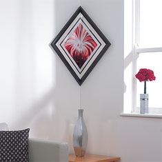 corner frame black